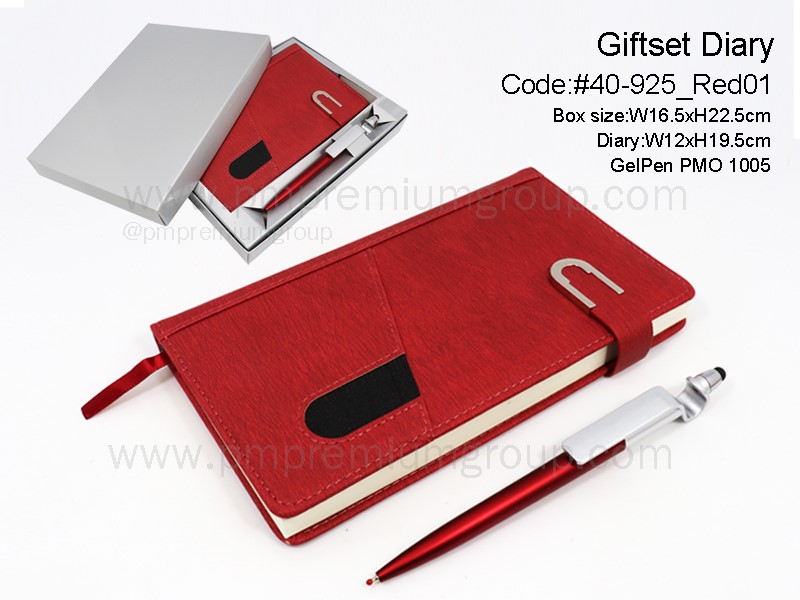Giftset Diary #40-925Red01