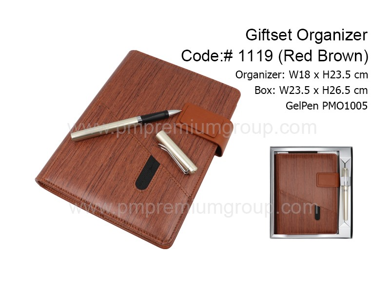 Giftset Organizer1119(Red Brown)