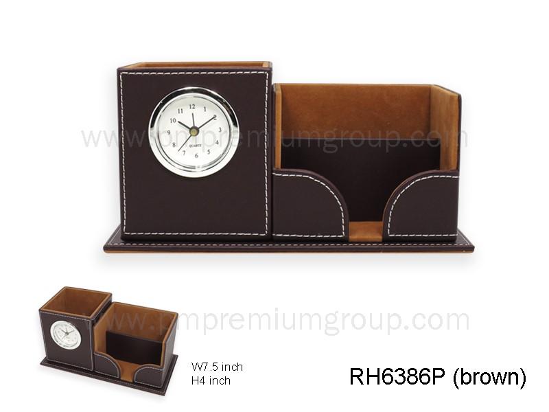 นาฬิกากล่องหนังตั้งโต๊ะ RH6368P