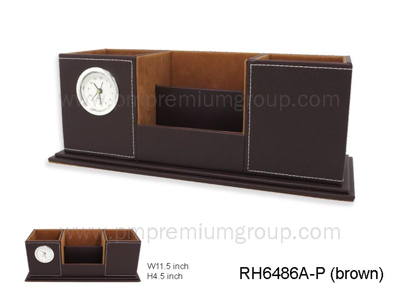 นาฬิกากล่องหนังตั้งโต๊ะ RH6486A-P