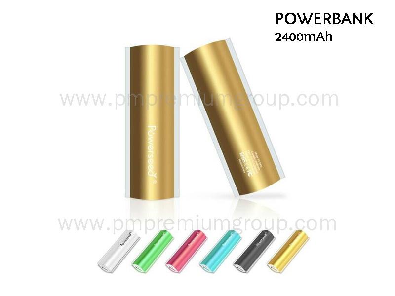 Powerbank 2400 mAh Metallic
