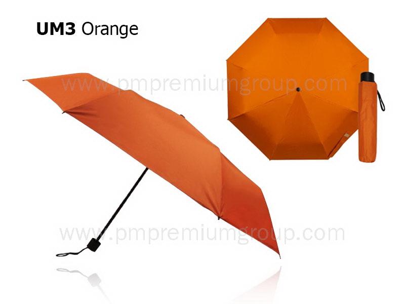 ร่มพับ3ตอนสีส้ม