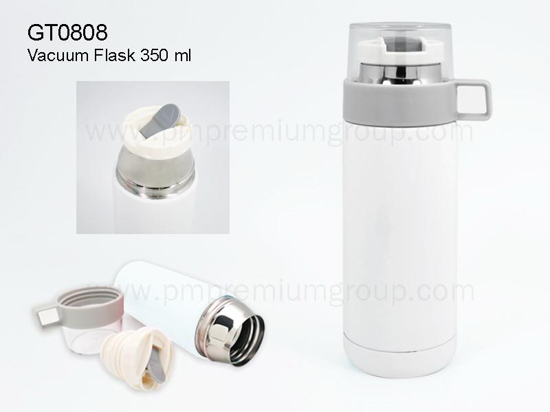 กระติกน้ำสเตนเลสสีขาวGT0808